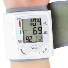 USA FDA Auto Digital Wrist Blood Pressure Monitor Heartbeat Meter Memory LCD HP