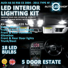 Audi A6 Avant C6 05-10 Led Interior Upgrade Kit Completo Conjunto De Bulbo Xenon Blanco