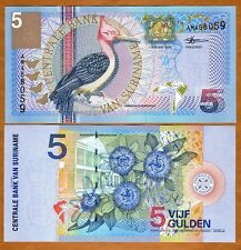 Suriname / Suriman, 5 Gulden, 2000, P-146, UNC -  colorful