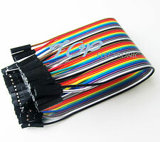 40P color dupont cables2.54mm 1P - 1P 20 CM long a row of 40 root For Arduino