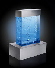 Tabletop Rectangular Bubble Wall Color Changing Lights Water Fountain Feature