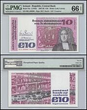Ireland 10 Pounds, 1987-92, P-72c, UNC, Lady Lavery, PMG 66 EPQ