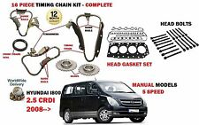 FOR HYUNDAI i800 2.5 DT CRDI 2008- TIMING CHAIN KIT + HEAD GASKET SET+ BOLTS SET