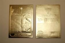 MICHAEL JORDAN 1986 Fleer ROOKIE 23KT Gold Card Sculptured NM-MT Serial #/10,000