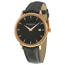 Raymond Weil Toccata Black Dial Black Leather Mens Watch 5488-PC5-20001