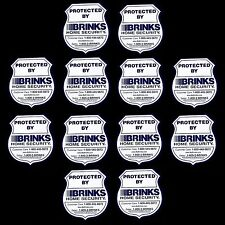 12 BRINKS ADT HOME SECURITY ALARM SYSTEM WINDOW DOOR WARNING STICKER DECAL SIGNS