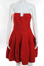 Halston Heritage Orange Strapless Vanna Dress Size 8 New $475 10258220