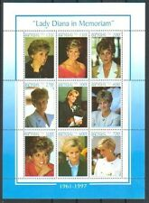 Benin 1998 Lady Diana in Memoriam. Sheetlet of 9. MNH. VF.