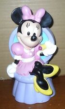 Disney Minnie Mouse in Chair Plastic Coin Piggy Bank Just Toys Inc. *NO STOPPER*