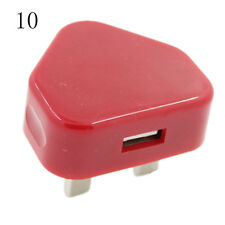 UK Plug Mains Wall 3 Pin USB Power Adaptor Charger For Mobile Cell Phone  Tablet