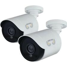 Night Owl CAM-2PK-HDA10W-BU 2 Pack Add-On 1080p HD Wired Security Bullet Cameras