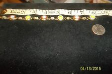 Vtg Micro Mosaic Flower Link Bracelet Tile Inlay Floral Italy Bouquet