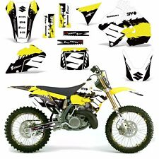 Decal Graphic Kit Suzuki RM 250 RM250 Dirt Bike Number Backgrounds Deco 96-98 WR