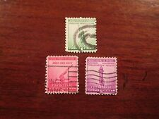 Scott# 899-901, 1940, 1,2 & 3 Cent, National Defense Stamps, Used
