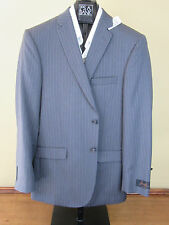 $650 New Jos A Bank JOSEPH grey stripe pattern suit 38 R 32 W Slim fit