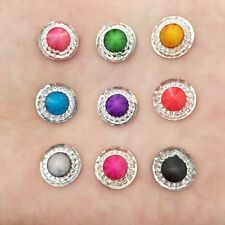 Hot DIY 40PCS mix 12mm Resin Round Rhinestone Flatback scrapbooking for phone