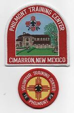 Philmont Training Center Patch Set, Cloth & Plastic Backings, Mint!