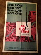 1949 MAN IN THE MIDDLE Robert Mitchum ORGINAL 27x 41 One Sheet Movie Poster