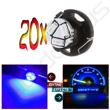 20Pcs Blue T5 /T4.7 Neo Wedge 12mm 3 SMD LED Dash A/C Climate Heater Light Bulbs