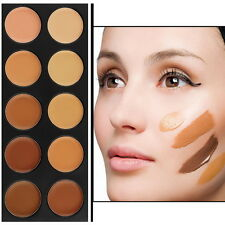 Pro 10 Color Camouflage Concealer Palette Eye Face Cosmetic Makeup Cream LO