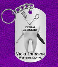 DENTAL Assistant Keychain Gift Personalized with Name! or Graduation Gift