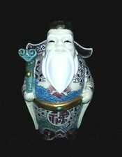 Figurine Ivory color Lucky gods Carved Painted Seven immortal Japan Asian