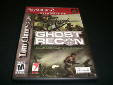 """Tom Clancy's Ghost Recon """"Great Condition"""" (PlayStation 2) Complete  PS2"""
