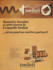 Publicité Advertising 1966  tonilait au chocolat ... spécialité MONT BLANC