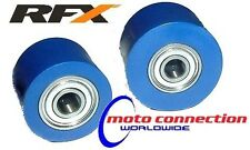 RFX BLUE CHAIN ROLLERS  (Top & Lower) YAMAHA WR250F WR450F WRF Enduro 00-16