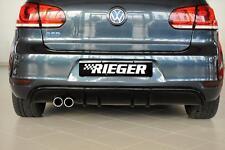 Heckeinsatz Diffusor Schwarz Glanz für VW Golf 6 GTD 00088019  RIEGER-Tuning