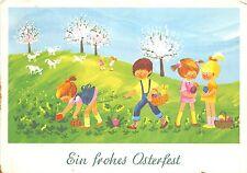 BG14974 children egg lamb flower painting  ostern easter   germany