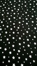 "STARS JERSEY LYCRA Stretch PJ's Playsuits Bodycon Fabric 60"" Width Black/White"