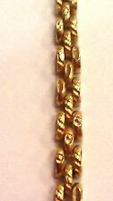 """22k solid yellow gold panther link bracelet s hook 7.5"""" long"""