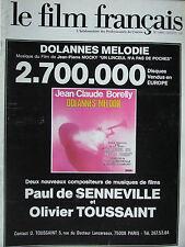 Le Film Français N°1604 (12/12/1975) Dolannes Melodie - Nuit de l'amitié