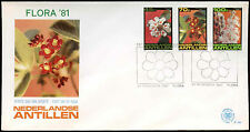 Netherlands Antilles 1981 Flowers FDC First Day Cover #C26722