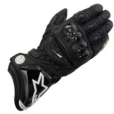 AlpineStars GP PRO Motorcycle Leather Race Bike Gloves - Black