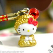 Multi-Color Unbranded Universal Hello Kitty Phone Charm w Strap&Bell HK026 -2CM