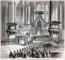 MILANO:TE DEUM NEL DUOMO CON VITTORIO EMANUELE E NAPOLEONE III.Risorgimento.1859