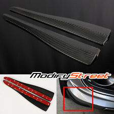 363x64.8mm JDM CARBON FIBER STYLE BUMPER LIP/SIDE SCRATCH PROTECTOR STRIP GUARD