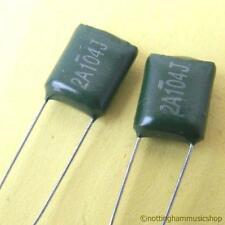 2 CAPACITORS ELECTRIC GUITAR TONE 0.1uF (100nF) ST NEW