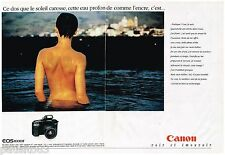 PUBLICITE ADVERTISING 095  1991  CANON   appareil photo EOS 100F  ( 2 pages)