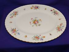 """BEAUTIFUL MINTON CHINA 15"""" MARLOW SERVING PLATTER S-309 MULTI-FLORAL ENGLAND"""