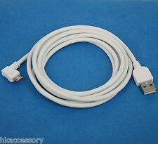2M Fast Charger ONLY Right Angle USB Cable WHITE for Lenovo Yoga tablet 2 8 10