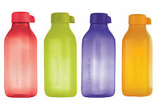 TUPPERWARE SQUARE FROSTY 500 ML AQUASAFE WATER BOTTLES (4 PCS )