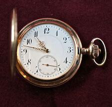 Union Glocke 14c Rotgold Herren Taschenuhr, Sprungdeckel, gefertigt um 1900.(U1)