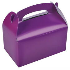 12 PURPLE PARTY TREAT BOXES FAVORS GOODY BAGS BAZAAR PRIZE GIFT BASKET CARNIVAL
