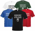 Exercise? Thought You Said Extra Fries T Shirt Comedy Tee Funny Top Joke Gift