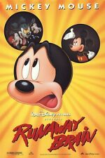 MICKEY MOUSE POSTER ~ RUNAWAY BRAIN ORIGINAL 27x40 Movie Walt Disney 2S