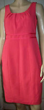 OASIS Coral Pink Sleeveless Lined 60's Style Cocktail Evening Party Dress Size 8