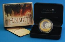 NEW ZEALAND: 2014 THE HOBBIT, THE BATTLE OF 5 ARMIES, 1 OZ SILVER PROOF $1 COIN